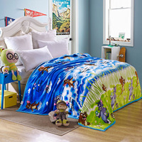 Cute Cartoon Cat And Mouse Flannel Blanket Hello Kitty Thicken Soft Velvet Blanket On Bed Sofa