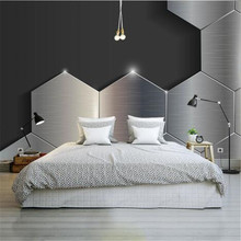 Modern Custom Photo Wallpaper 3D Gray Black Texture Wallpaper for Walls 3D Metal Stereoscopic Wall Murals Living Room Home Decor