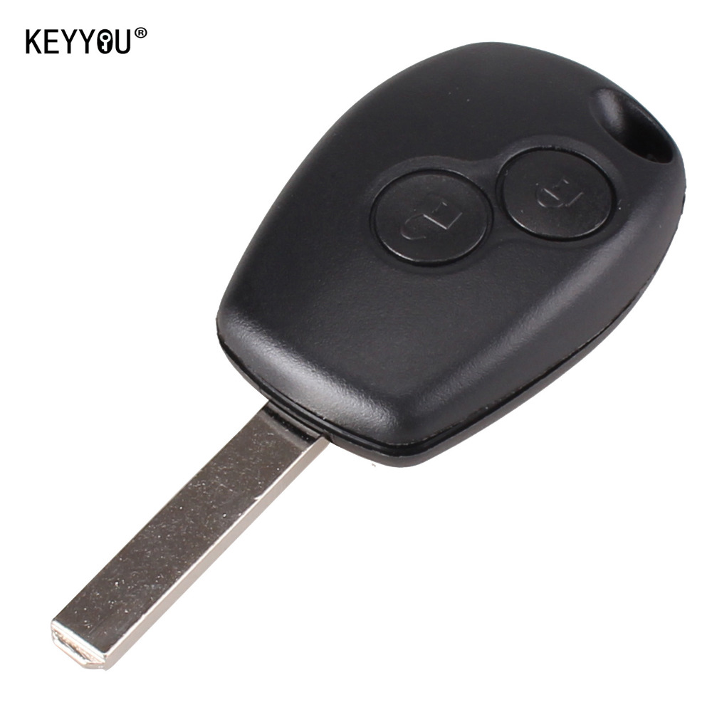 KEYYOU New Replacement 2 Button Key Fob Remote Shell Case Uncut Blade For Renault Modus Clio 3 Twingo Free shipping цены онлайн