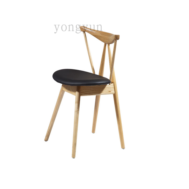 Minimalist modern room furniture side Wood Chair famous design dining chair Hotel The coffee shop Recreational dining chairs