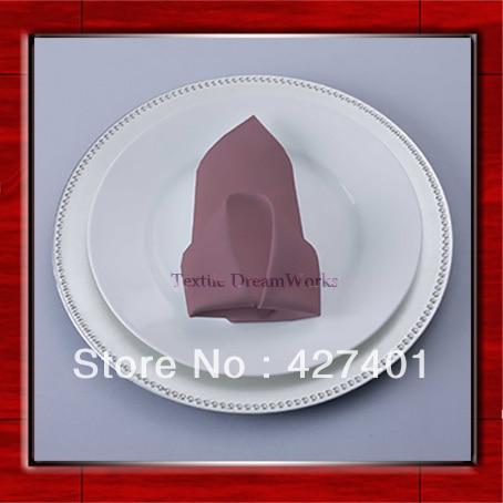 High Quality 50x50cm Claret Polyester Plain Napkin / Table Napkin / Hotel Napkin / Dinner Napkin (Factory Direct Sale)