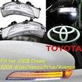 2009 Желание Зеркало свет, Prius, Бесплатные корабль! LED, корона зеркало свет, Venza, 2 шт./se, Avensis отзыв зеркало; желание боковой свет