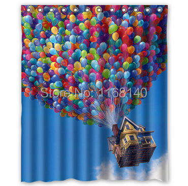 custom up movie balloons house cartoon shower curtain 60 x 72 inches