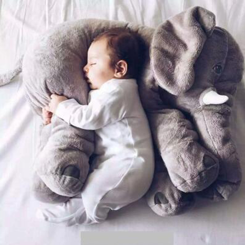 1pcs 60cm INS Elephant Soft Pillows Baby Sleeping Pillow Stuffed Elephant Comforter Plush Animal Cushion Best Gift For Kids 40 60cm elephant plush pillow infant soft for sleeping stuffed animals plush toys baby s playmate gifts for children wj346