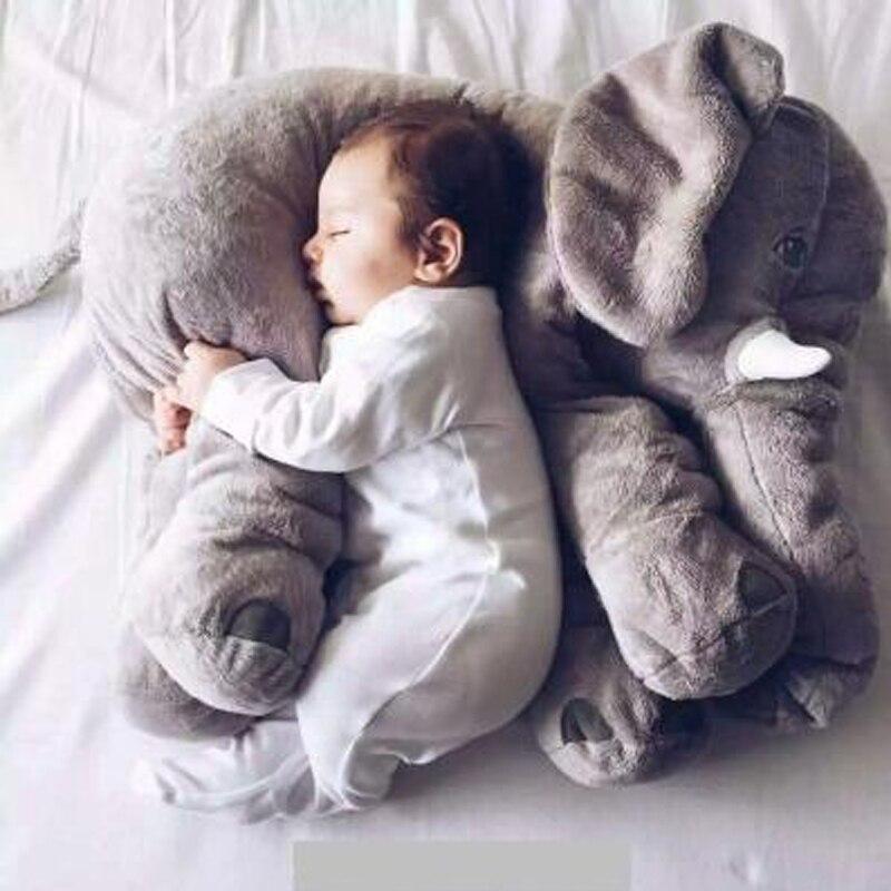 1pcs 60cm INS Elephant  Soft Pillows Baby Sleeping Pillow Stuffed Elephant Comforter Plush Animal Cushion Best Gift For Kids