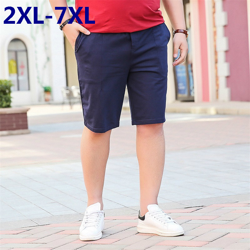 new summer mens shorts loose elastic cotton casual shorts fashion jogger shorts mens short pants plus size 8XL 7XL 6XL 5XL 4