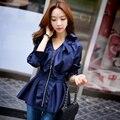 Dabuwawa romántica azul oscuro ondulado outwear