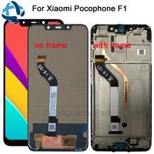 חדש עבור שיאו mi mi Pocophone F1 LCD תצוגה + מגע מסך פנל עבור שיאו mi Poco F1 הודו LCD digitizer החלפת חלקי תיקון