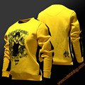 2017 New Design  Bruce Lee Cosplay Hoodies Mens 3XL Sweat Shirts Yellow Hoody For Young
