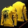 2017 Nuevo Diseño de Bruce Lee Cosplay Sudaderas Con Capucha Para Hombre Sudaderas Con Capucha Amarilla 3XL Para Jóvenes