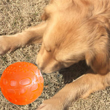 Glowing Pet Training Chewing Toy Rubber Elastic Resistance To Tear Bite Molars Will Sound Hole Ball Dog Interactive