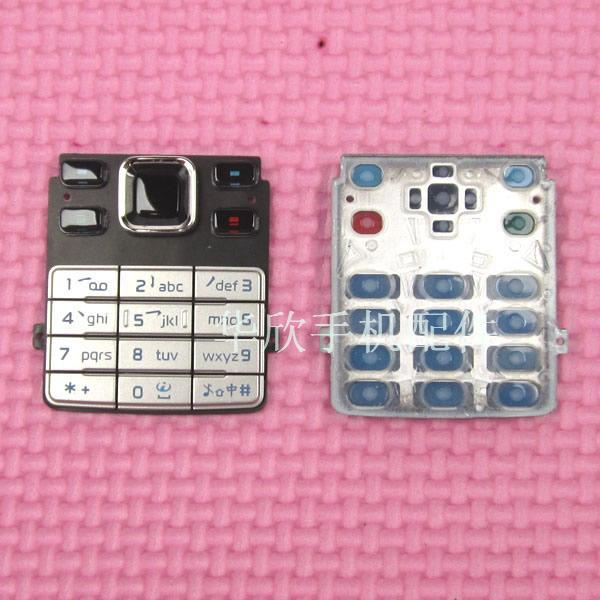 New Ymitn <font><b>housing</b></font> For <font><b>Nokia</b></font> <font><b>6300</b></font> Black&Silver New <font><b>Housings</b></font> Cover Main Function Keyboards Keypads Buttons Cover Case image