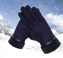 GLV816 New men touch screen gloves winter outdoor sports Cycling driving with thick warm fleece