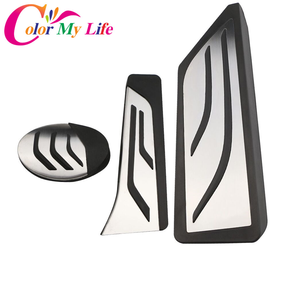 Color My Life Car AT Auto Accelerator Pedals Foot Rest Pedal Cover For BMW X1 F48 2-series Touring 218i 220i 220d 225xe LHD