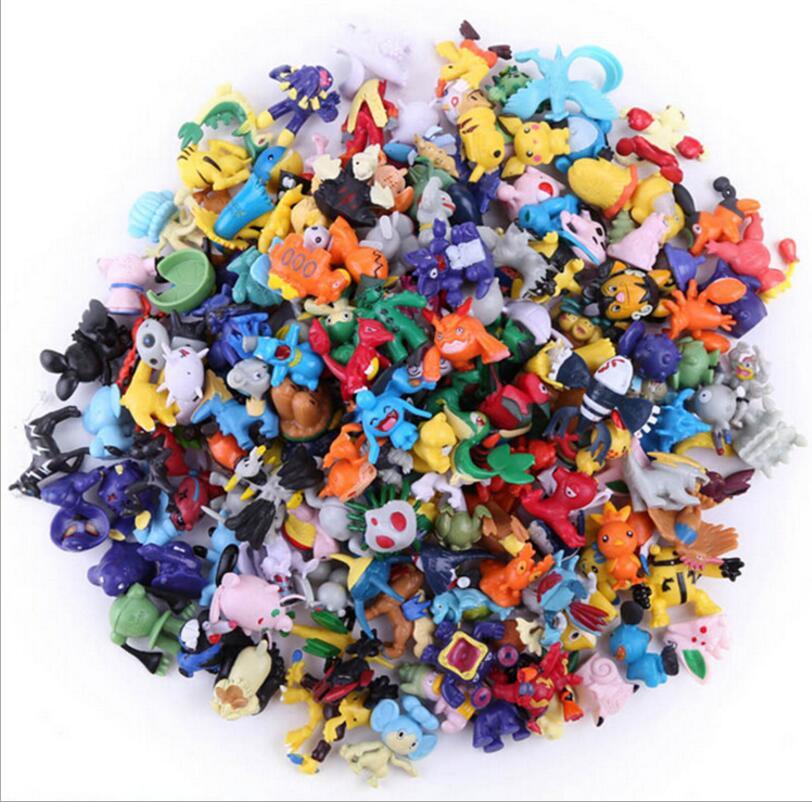 144 pcs Pikachu action figure kids brinquedos crianças presentes de Natal Aniversário 2-3 centímetros Mini Pokeball Monstro Brinquedo Estatueta para As Crianças
