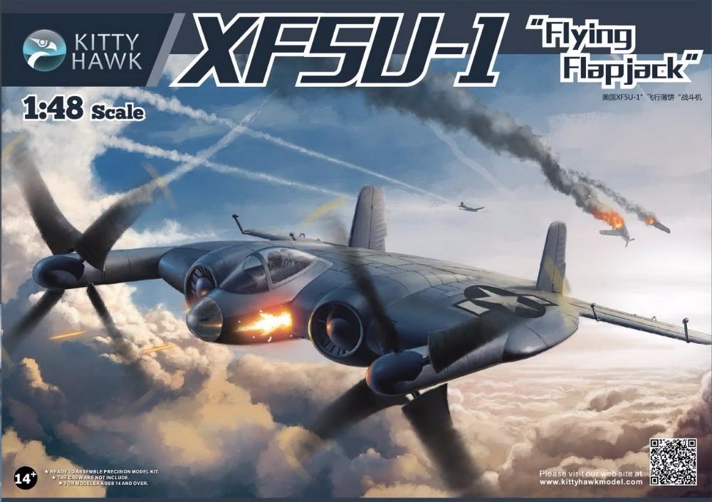 KITTY HAWK 1/48 XF5U-1 Flying Flapjack Aircraft #KH80135 hawk hkaw 128 1