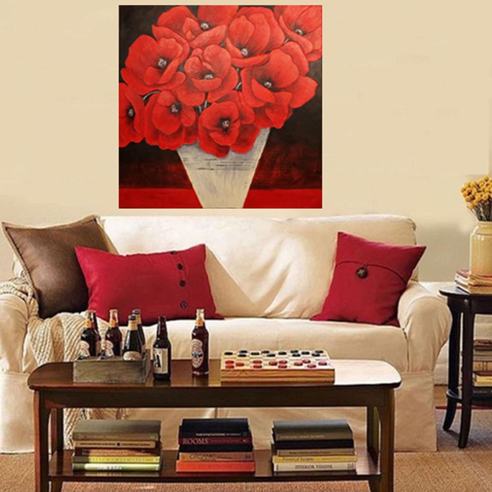 Online kopen wholesale rode papaver art uit china rode papaver art ...