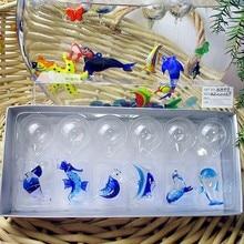 Munuola style hand blown glass crafts aquarium fish float decorations miniature Sea Fish Sculpture ornament