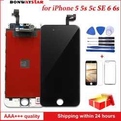 AAA LCD Display For iPhone 5 5s se 6s 6 Touch screen Assembly Replacement with Original Digitizer for iphone 6 5 LCD Table Panel