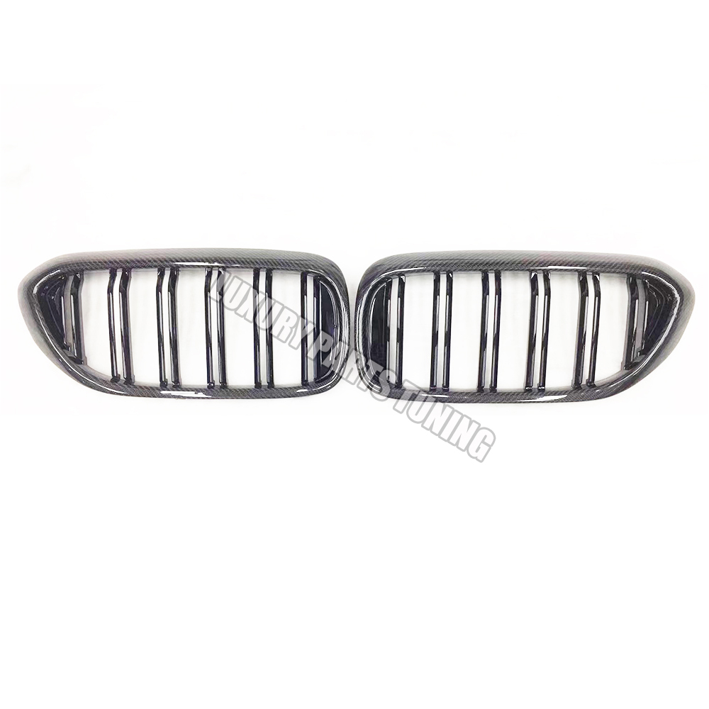 M5 Style <font><b>G30</b></font> Carbon Fiber Replaced Style Black Front Kidney Grill Grille for BMW <font><b>G30</b></font> <font><b>520i</b></font> 530i 540i M550i & F90 M5 2018 2019 image