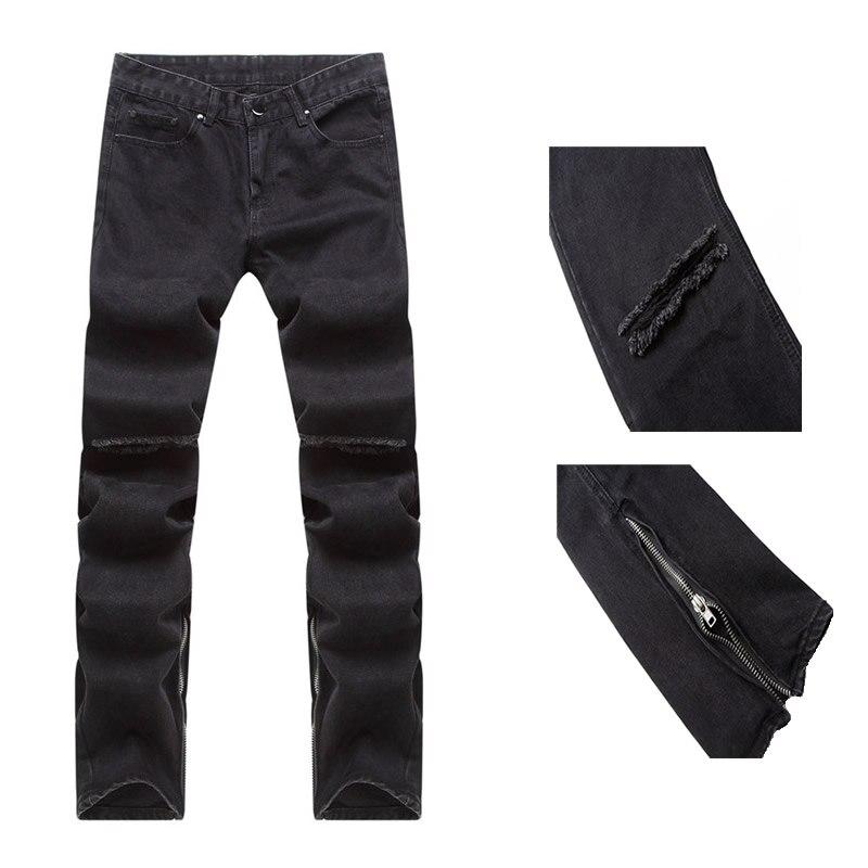 Designer Fog Justin Bieber Vintage Black Urban Clothing Ankle Zipper Skinny Distressed Ripped Jeans Men Jean Free Shipping havaianas urban jeans grey black