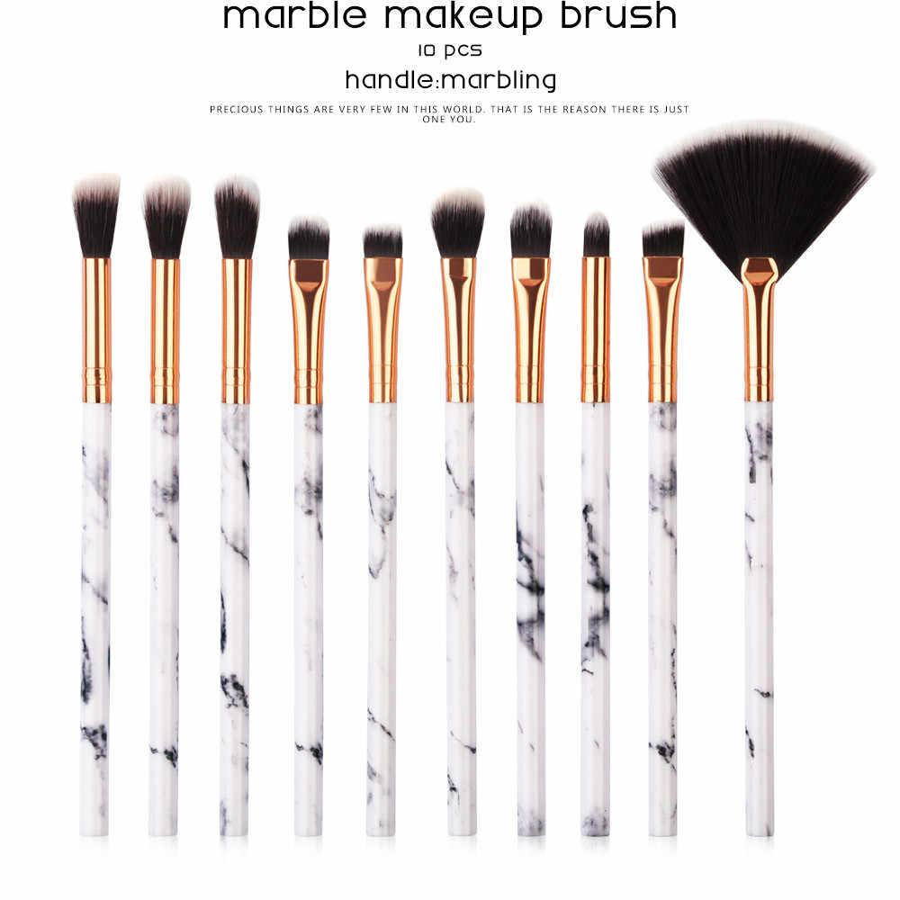 Kanbuder10 sztuk kosmetyków do makijażu marmuru zestaw profesjonalne twarzy cień do powiek Eyeliner podkład rozświetlający makijaż narzędzia pennelli trucco