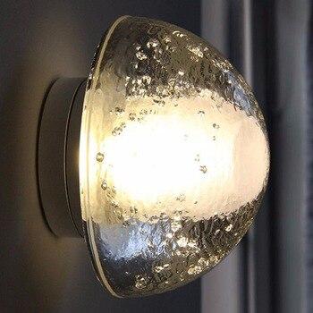 Modern Limpar K9 de Cristal Gota de Água Bola Globo de Luz Arandelas de Parede Lâmpada de Parede Espelho Frontal Quarto Cabeceira Corredor Escadas Luz