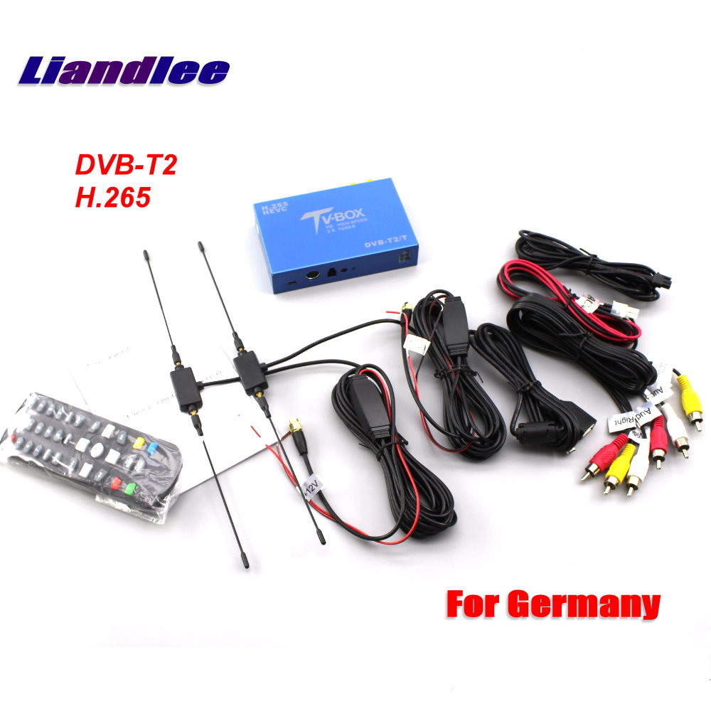 Liandlee DVB-T2 H.265 Voiture Numérique TV Récepteur Pour Allemagne D-TV Mobile TV Box 2 Antenne HD 1080 P MPEG-4/Modèle DVB-T2-T116 H265