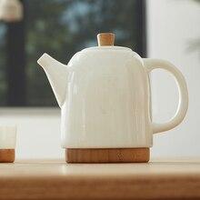 ZENS BAMBOO PLUMP Teapot  set Bone China Ceramic with Two Cups