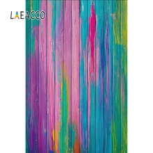 Laeacco Colorful Gradient Wooden Boards Scene Photographic Backdrops Baby Pet Props Photography Background Wall For Photo Studio top deals 3x5ft colorful photography backdrops photo wooden wall floor background studio props