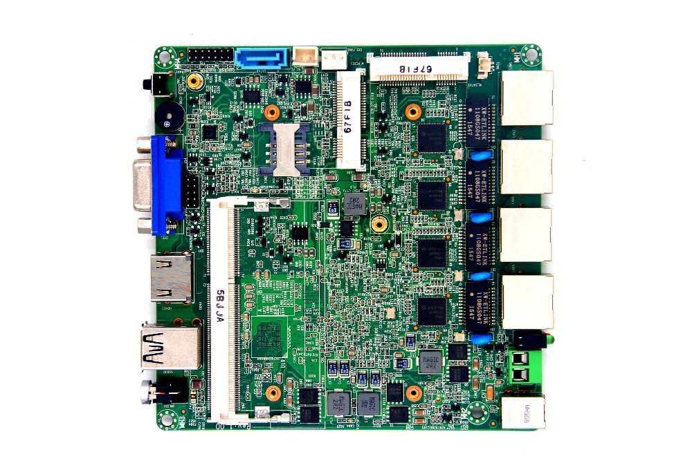 4 Gigabit Ethernet board, router machine Motherboard, soft router J1900 Processor Motherboard cheap intel celeron j1900 220v all in one pc motherboard for vending machine