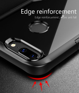 Image 4 - Oneplus 5t Case shockproof Clear Case For OnePlus 5t 5 6 Soft TPU Silicone+Hard Acrylic transparent Full Protective Back Cover