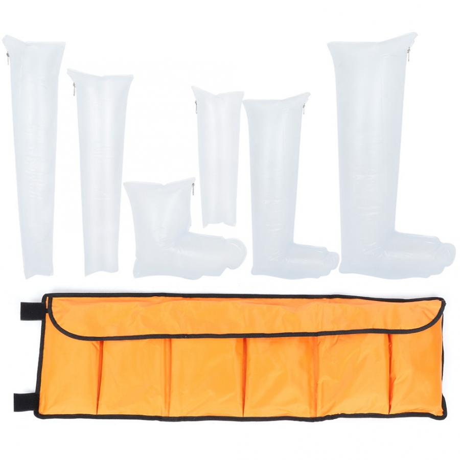 7pcs Leg Arm Inflatable Air Splint Set Outdoor Camping First Aid Emergency Kit Arm Air Splint-in Braces & Supports from Beauty & Health