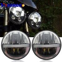 2 X 5.75 inch Iron 883 Dyna Headlamp 5 3/4 LED Headlights DRL for Triumph Rocket iii 3 Speed Tripl & Street Triple 5.75 Lamp