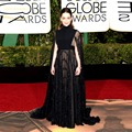 Charming Black A Line Lace Celebrity Dresses 2016 with Shawls Coats Golden Global Academy Awards Oscar Red Carpet Dresses OE15