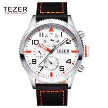 TEZER бренд часы мужские спортивные часы бизнес Relojes де Hombre кварцевые часы водонепроницаемые T2051