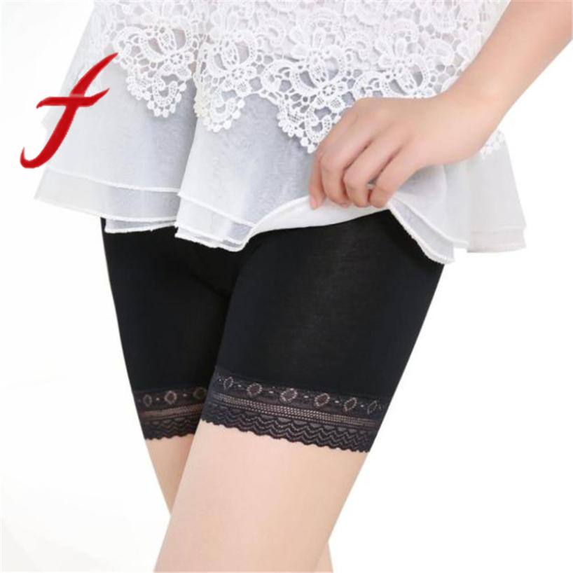 2018 Women The Best Hot Safety Short Pants Elastic Anti Chafing Lace Thigh Sock Middle Waist Prevent Leg Thigh Chafing Sock New