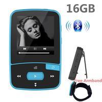 Sport Clip Mp3 Lecteur de Musique 16 gb avec Bluetooth pour la Course Sans Perte Portable Sound Music Jouer-Extensible TF Carte Jusqu'à 64 GB