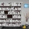 Custom Modern Bookshelf Black White Shower Curtains Waterproof High Quality Home Decrations With Hooks Bathroom Shower
