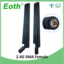 10pcs 2.4GHz Antenna wifi real 8dBi RP-SMA Female 2.4 ghz antena wi fi antenne Aerial antennas antenas fo Wireless wi-fi Router модем zte mf79 usb wi fi router черный