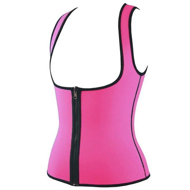 b08f82ccef SAYFUT Neoprene Hot Sweat Sauna Sexy Body Shaper Top Workout Vest Waist  Trainer Control Tummy Weight