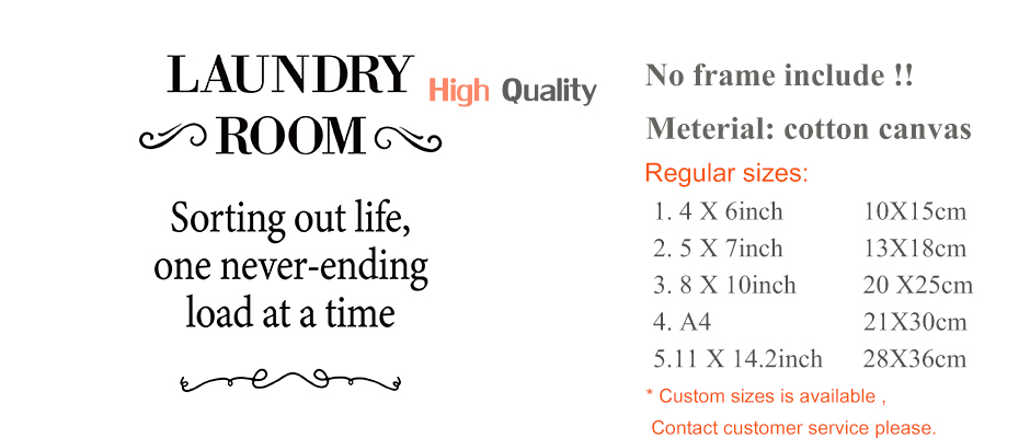 Laundry Room Decorative Posters Prints Modern Clean Quotes Canvas Painting For Bathroom Home Decor Wall Art Pictures Family Gift (1)