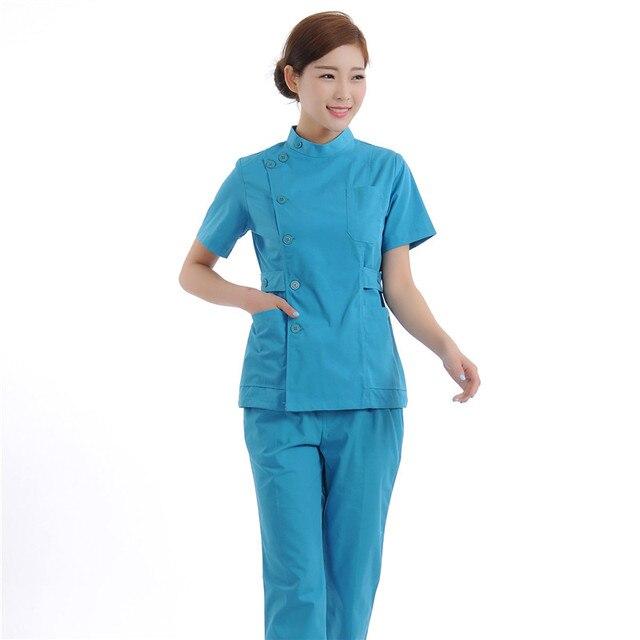 Buy new women medical scrub sets nurse for Spa uniform policy