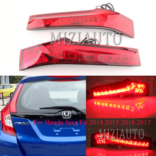 2PCS Rear Tail Light For Honda Jazz Fit 2014 2015 2016 2017 Car LED Tail Stop Lamp turn signal taillights assembly цена