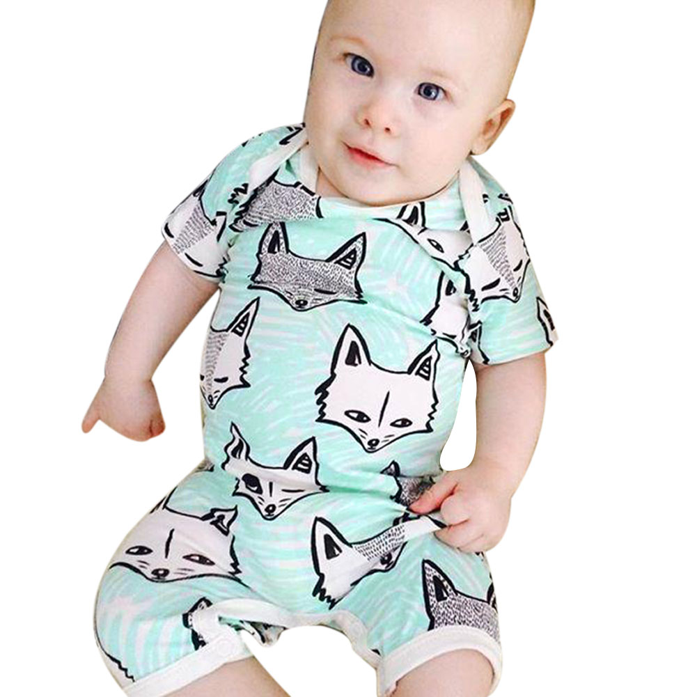 Fox Caby Clothes Boys Girls Romper Cartoon 0 24M Overalls for ...