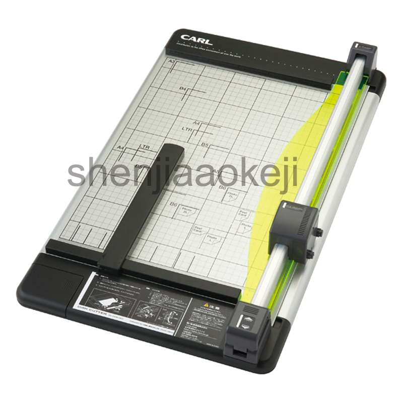 A3 Manual Alloy Paper Trimmer rotary Paper Cutter Photo Cutter Business Card Cutting Machine Roller 430mm max new discount portable 48 inches 1200mm manual rotary professional paper pvc cutter trimmer sg 1200 roller paper cutter 8sheets