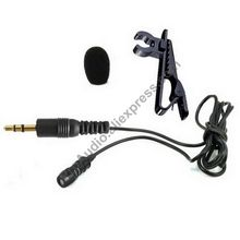 MICWL 60T-S Pro Tie Clip-On Lavalier Lapel Microphone Mike Mic for Wireless System transmitter 3.5mm 1/8 Jack Male Stereo