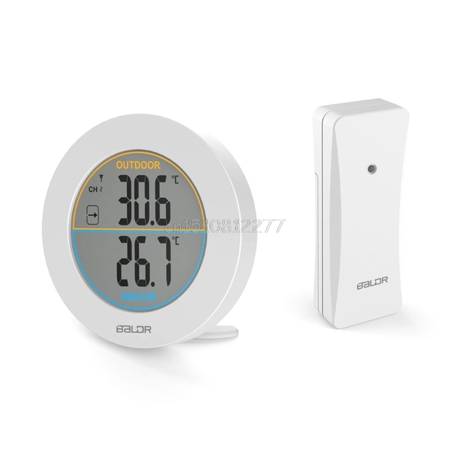 Table Wireless Thermometer LCD Display Indoor Outdoor Sensor Temperature Sensor Indoor Outdoor Thermometer #H0VH# Drop shipping