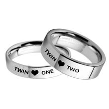 Близнецы кольцо набор Твин один Твин два кольца 8 мм из нержавеющей стали кольцо для сестры 6 мм обручальное кольцо для Brother lesbies украшения для геев
