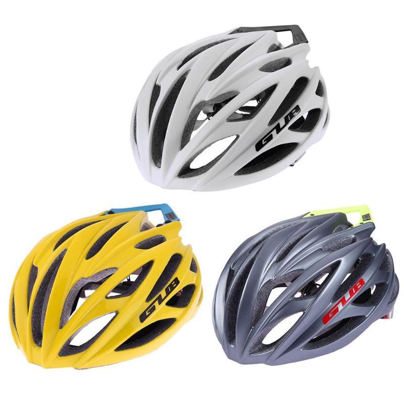 GUB SV8 PRO/F9 Mountain Bike Helmet Integrated Carbon Fiber Mountain Road Bike Hat Cap w/ Empennage Cycling Equipment 26Holes gub x3 16 hole outdoor mountain road cycling bike helmet yellow black